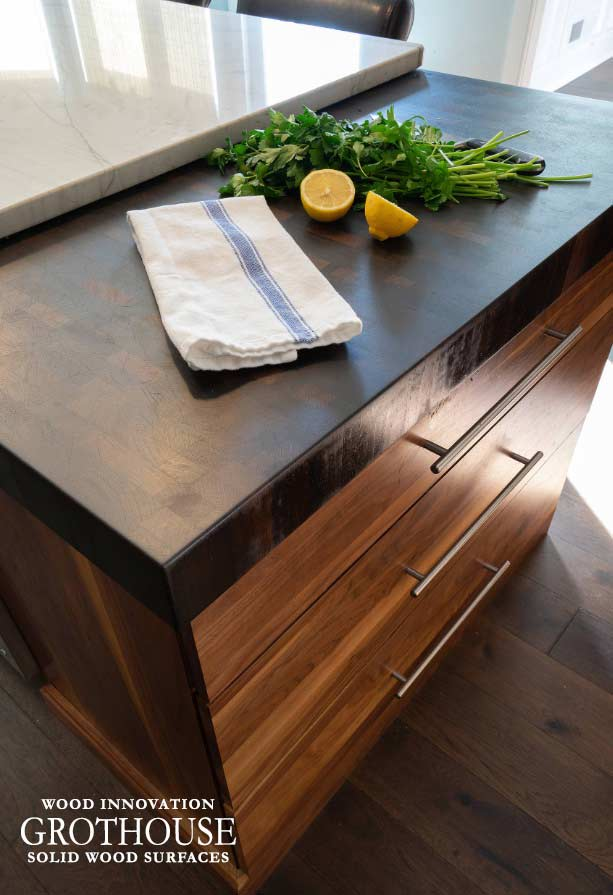 Wenge Butcher Block with Grothouse Original Oil Finish for a kitchen in Philadelphia, Pennsylvania