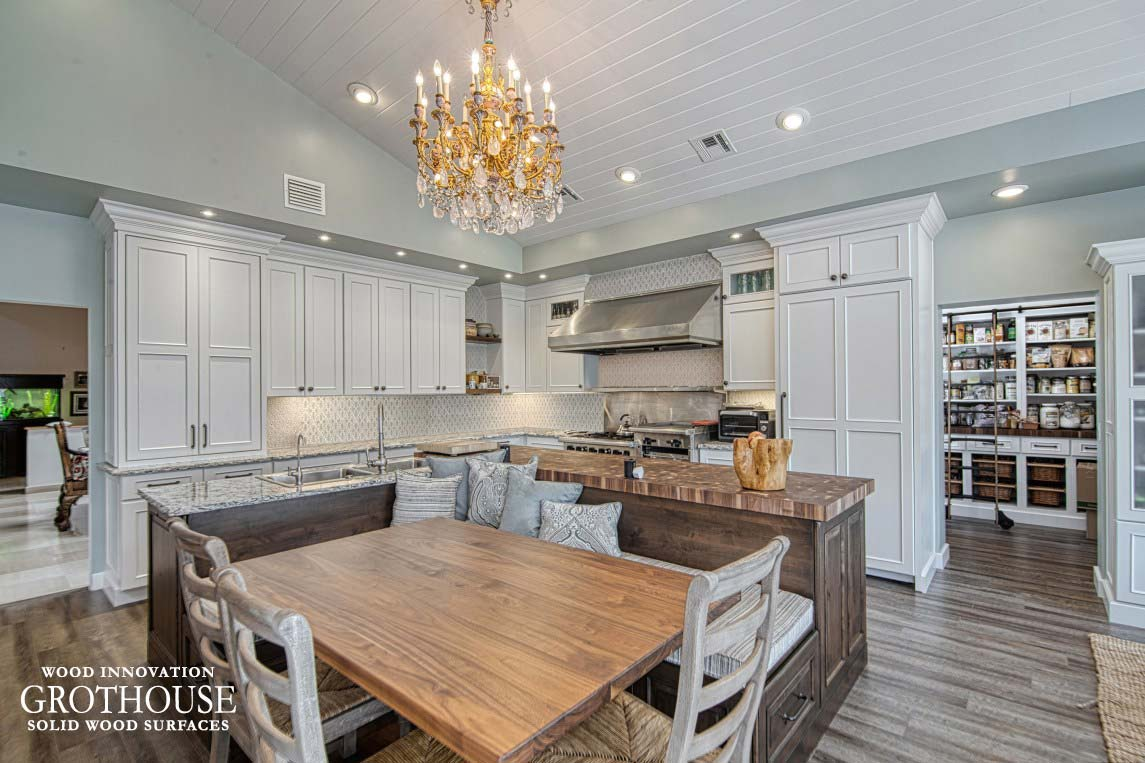 Large Kitchen Island Butcher Block in Port St. Lucie, Florida