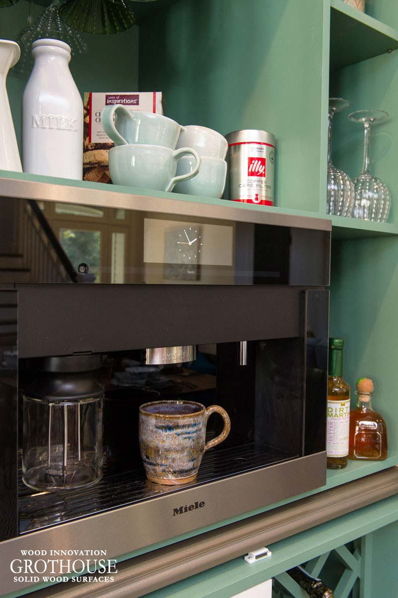 Metal Coffee Bar Countertop Designed for This Old House in Narragansett, Rhode Island