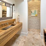 Award Wining Wood Vanity Top Designed by Design Studio West in San Diego, California