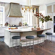 Riftsawn White Oak Countertop for the kitchen in House Beautiful's Whole Home Concept House 2019 in Nashville