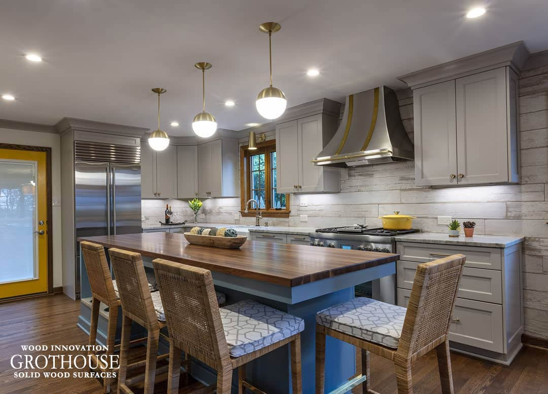 Walnut with Sapwood Countertop Crafted by Grothouse in Cheswick, Pennsylvania
