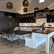 Walnut Kitchen Island Countertop for a contemporary style home located in Frisco, Colorado
