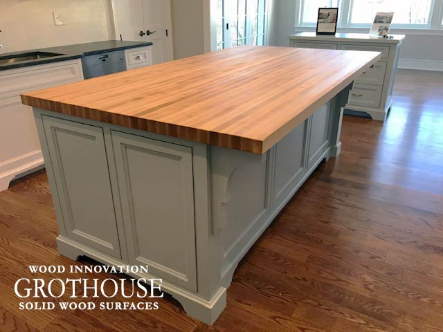 Custom Maple Countertop for a Traditional Kitchen Island in Devon, Pennsylvania