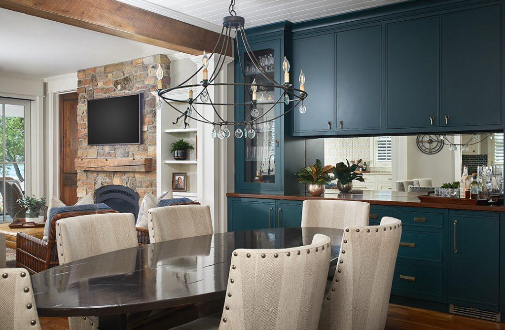 Walnut Dining Room Bar Top designed by Todd Wiley, Senior Designer, TruKitchens