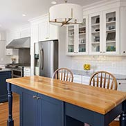 Custom Wood Antique Heart Pine Kitchen Island Counter in Fairfax, Virginia
