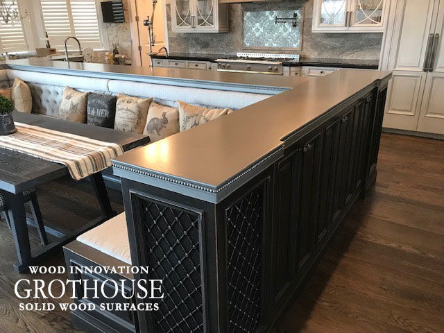 Custom Axel Anvil Metal Kitchen Bar Top in Denver, Colorado