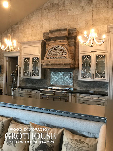 Axel Anvil Metal Kitchen Bar Top with a Custom Edge Profile and Nail Heads
