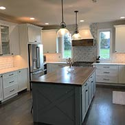 Hand Planed Walnut Kitchen Island Top in King of Prussia, Pennsylvania
