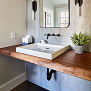 Live Edge Powder Room Vanity Top This Old House Cape Ann Project