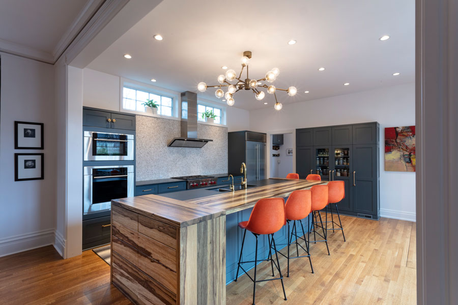 Saxon Wood Island Countertop and Drawers designed by Jacob Evans Kitchen and Bath