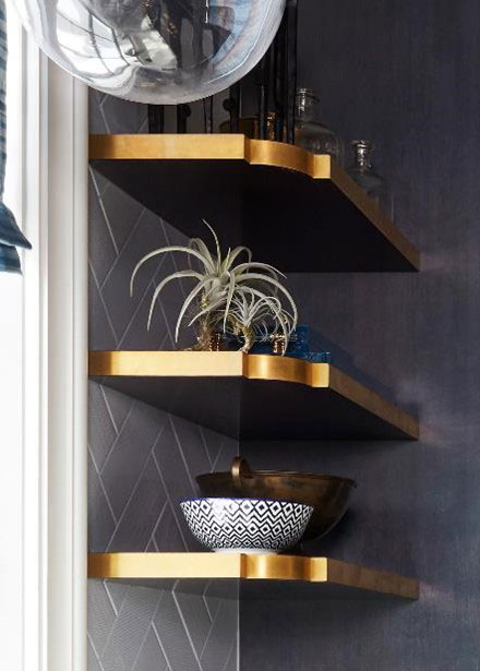 Custom Floating Shelves for House Beautiful Whole Home Concept House