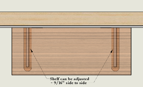 Custom Floating Shelves with Side to Side Adjustability