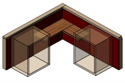 Custom Floating Shelf Solution for Corners