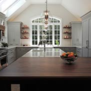 Walnut All Heartwood Kitchen Island Top in West Chester, Pennsylvania