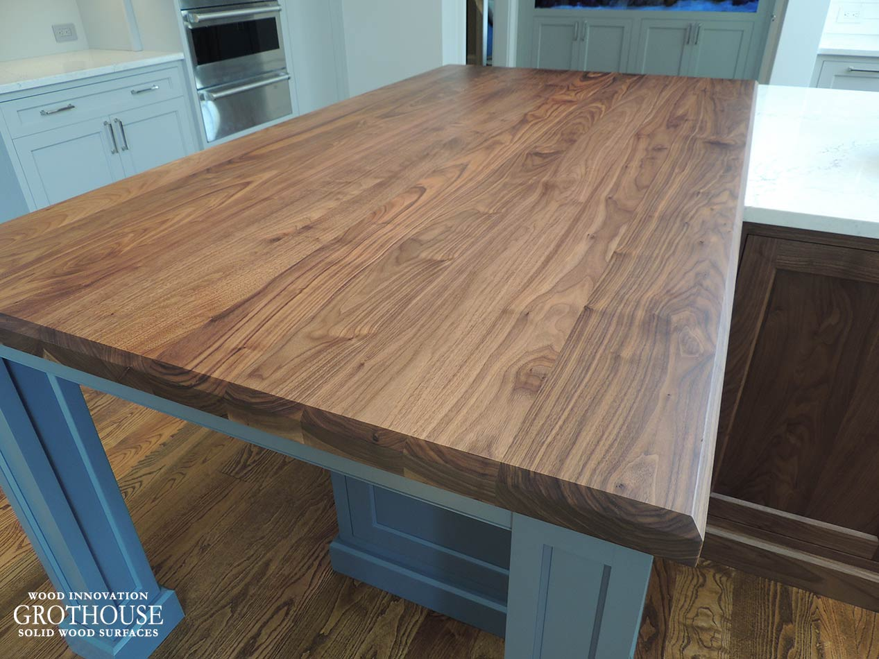 Custom Walnut All Heartwood Counter for a Kitchen Island in West Chester, PA