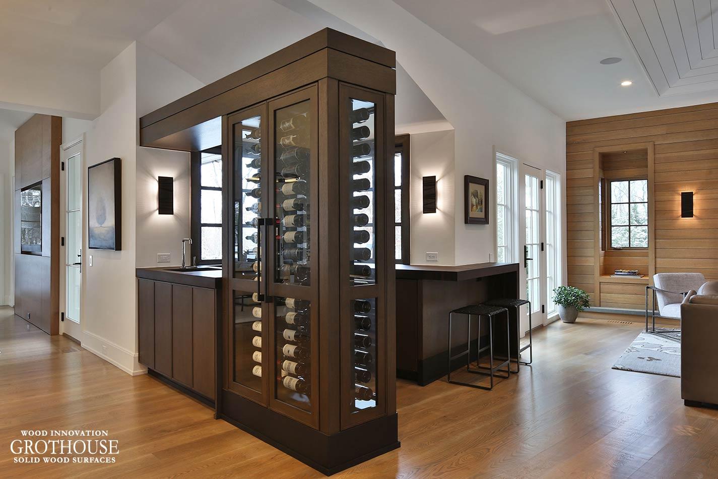 Custom Wenge Wine Bar Tops in Plain City, Ohio