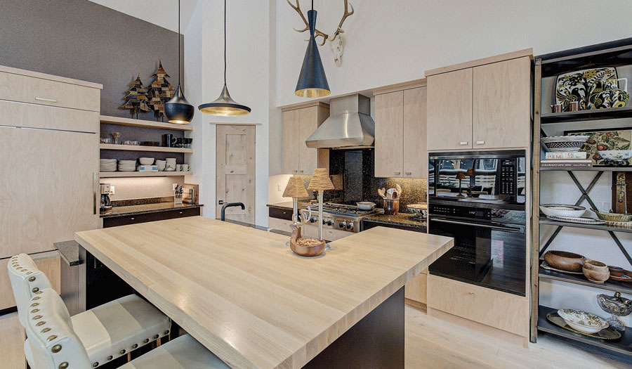 Kitchen Island Designs with Wood Counters by Grothouse