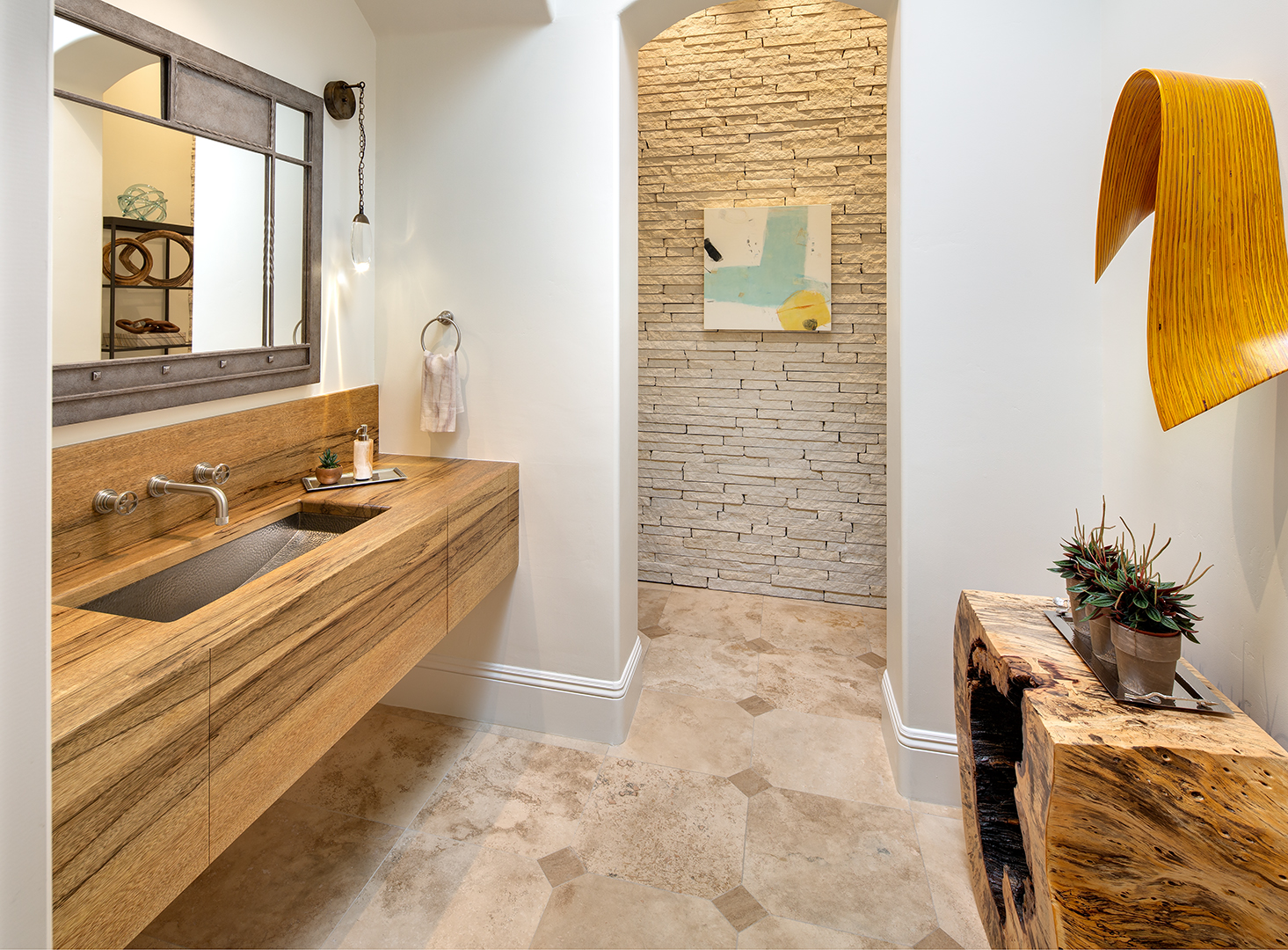 Custom Solid Wood Countertops for Baths by Grothouse