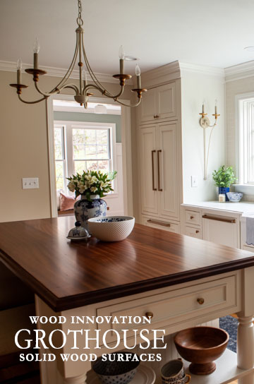 Sapele Mahogany Kitchen Island Counter in Pennsylvania