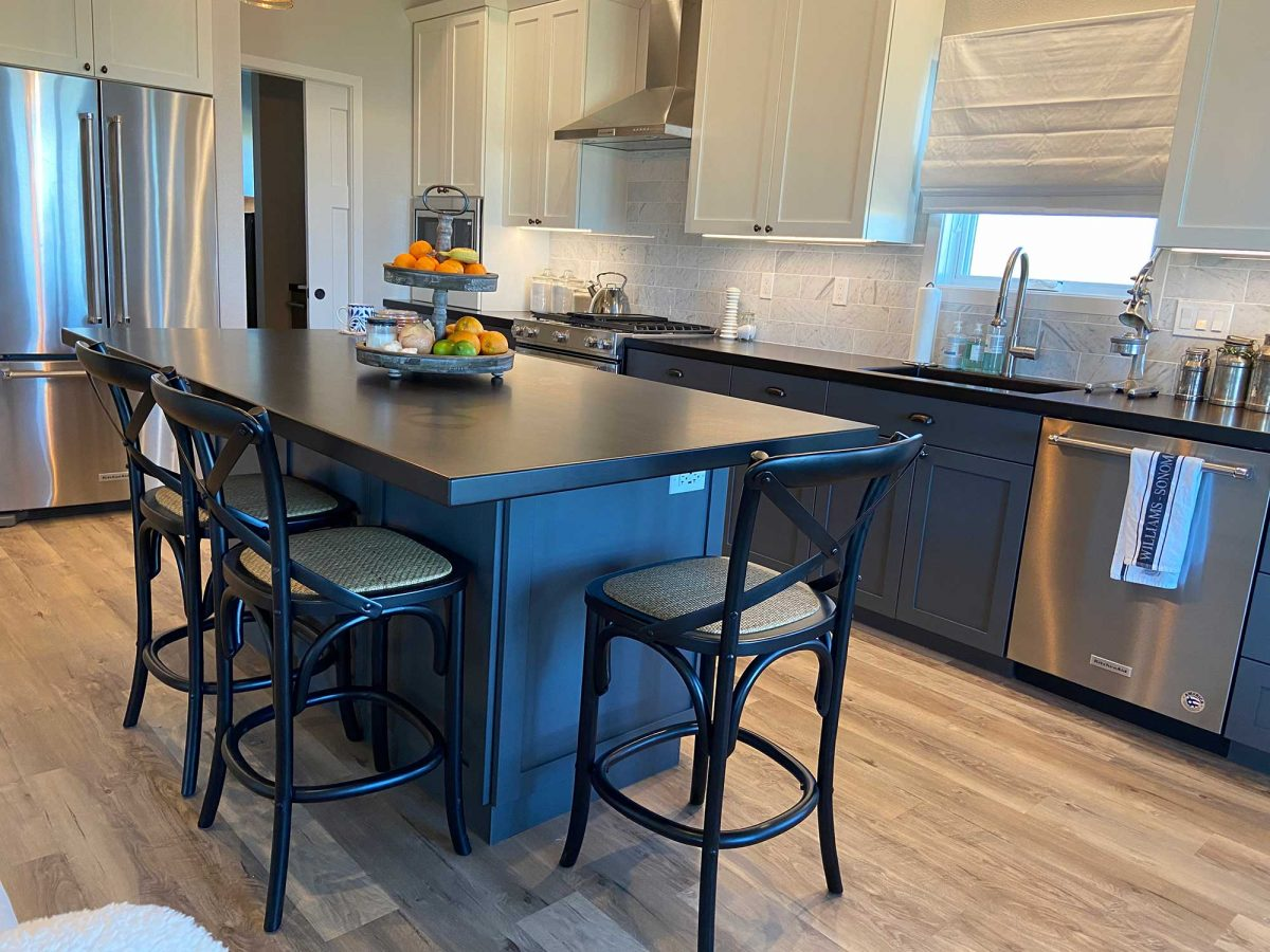 Stained Wood Kitchen Counters by Grothouse