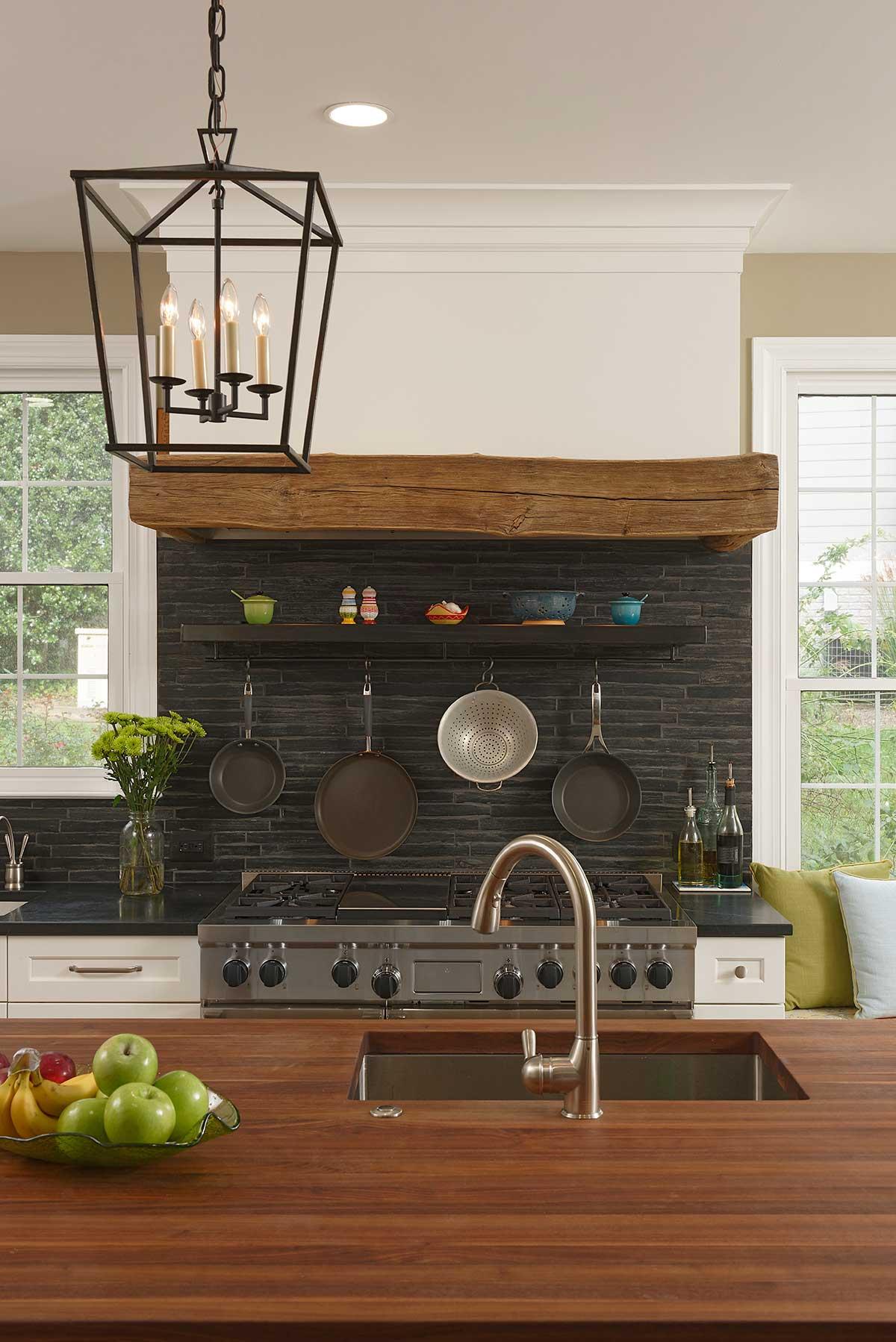 Kitchen Sinks in Wood Countertops