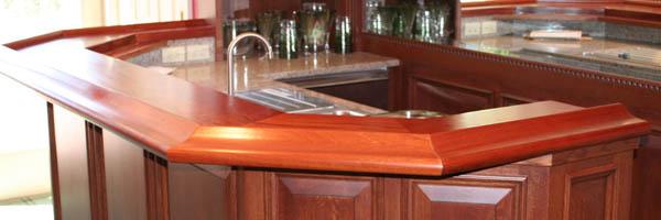 Mitered Chicago Bar Rail for Residential Bar