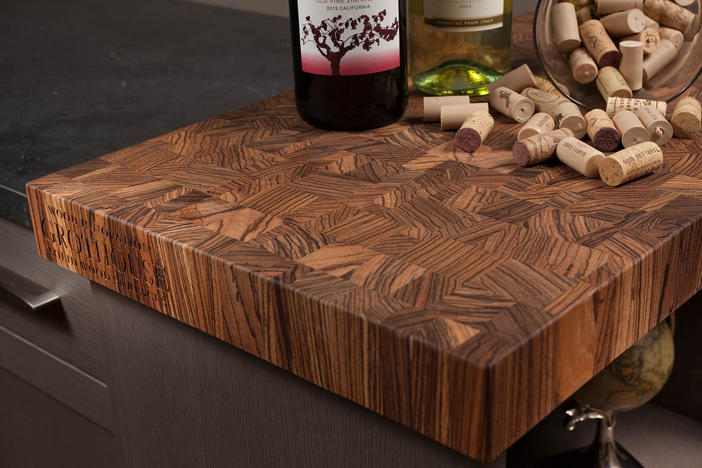 Custom End Grain Butcher Block Countertops for Kitchens