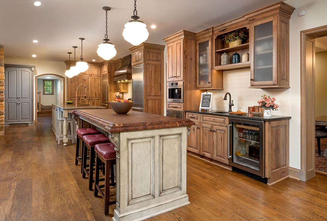 Custom Wood Butcher Block Kitchen Island Countertops