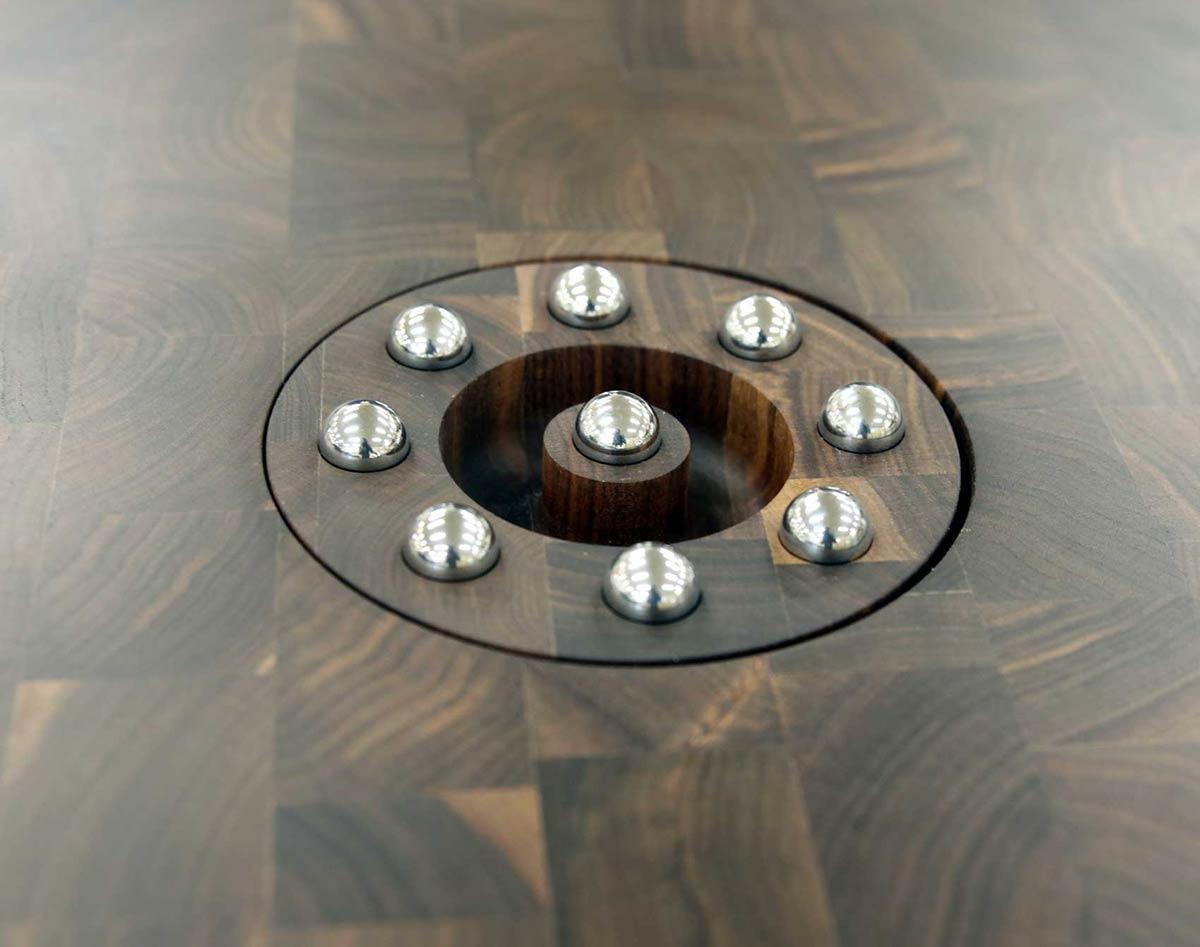 Stainless Steel Ball Trivets for Butcher Block Countertops