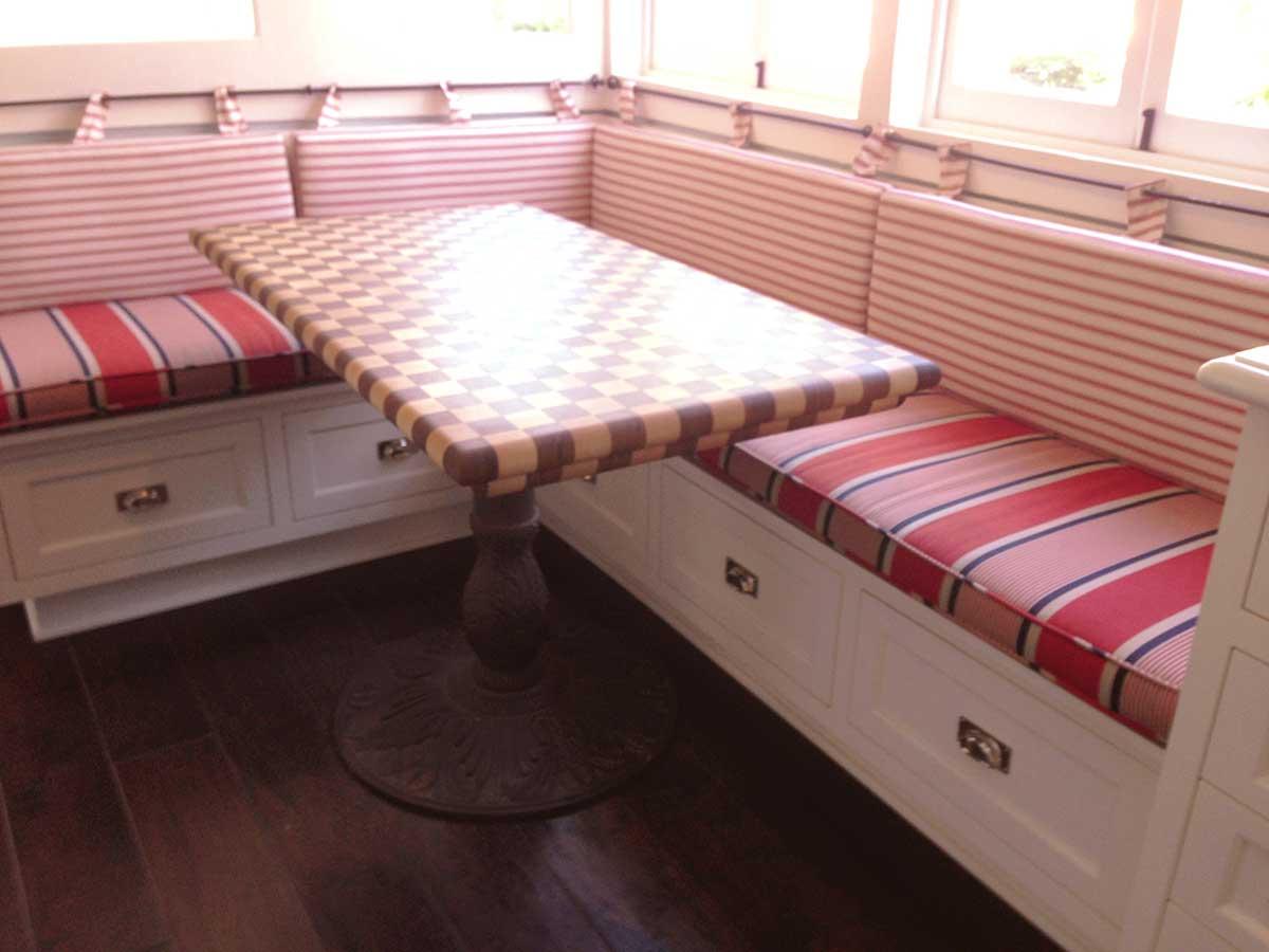 Checkerboard Butcher Block Dining Tabletop