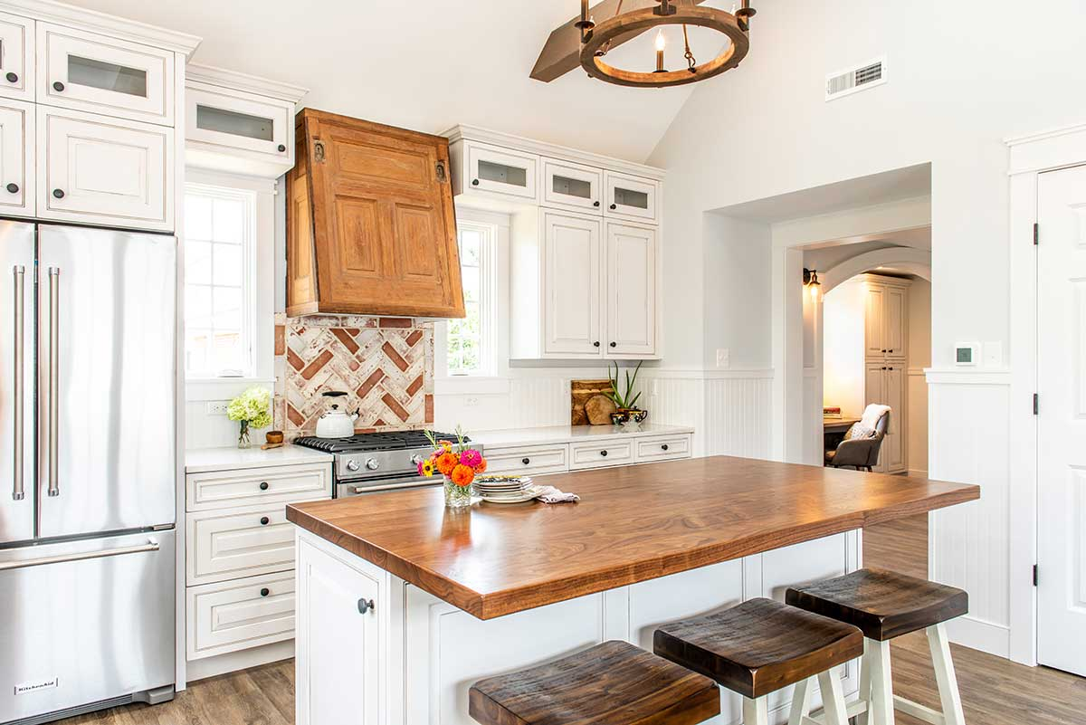 Flat Grain Wood Counters Construction Style