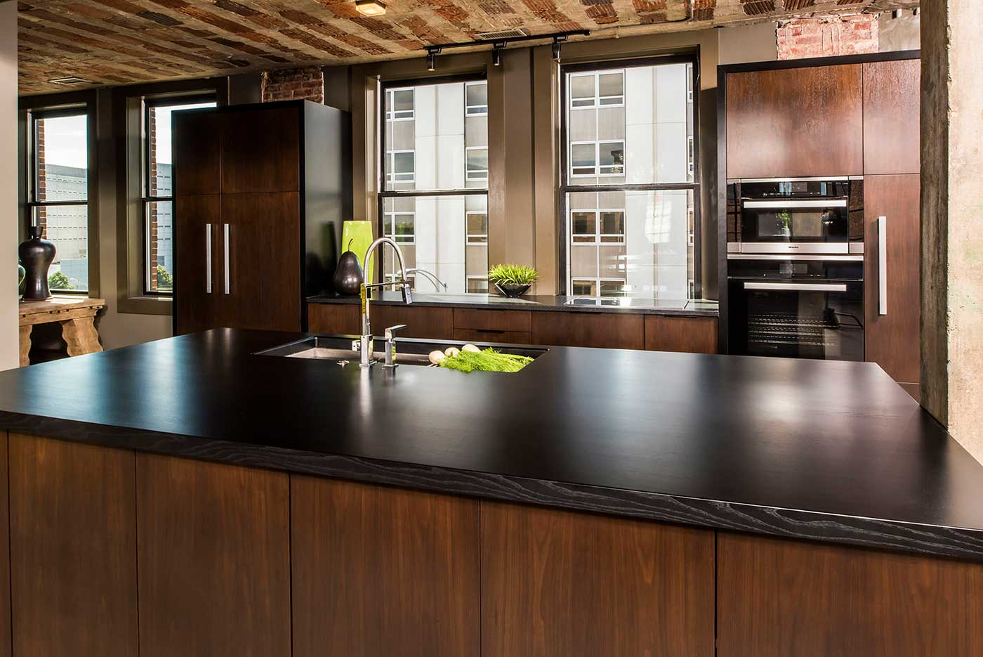 Stains and Glazes for Custom Wood Countertops in Kitchens and Bathrooms
