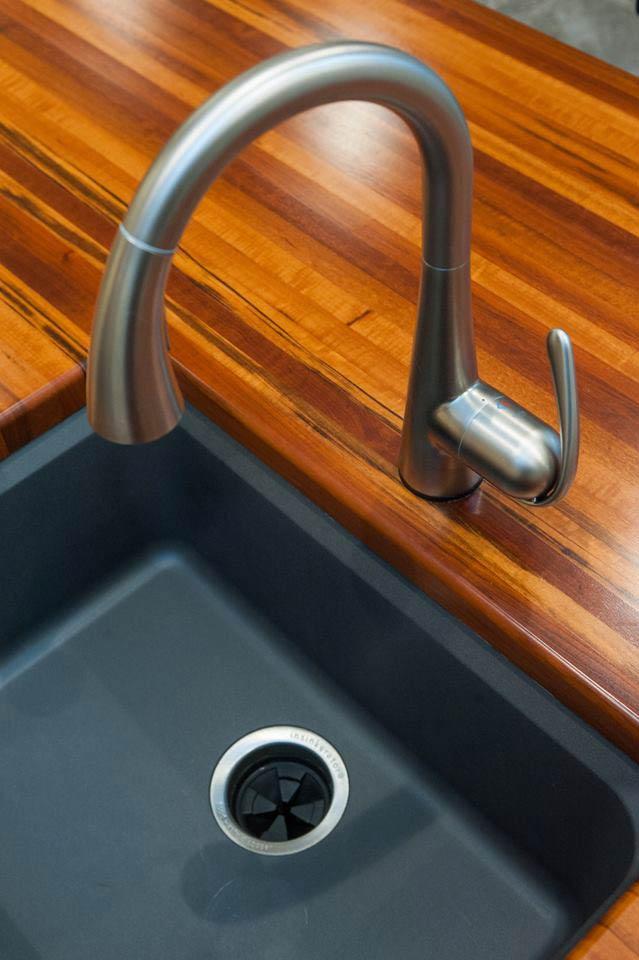 Waterproof Wood Countertops with Sinks