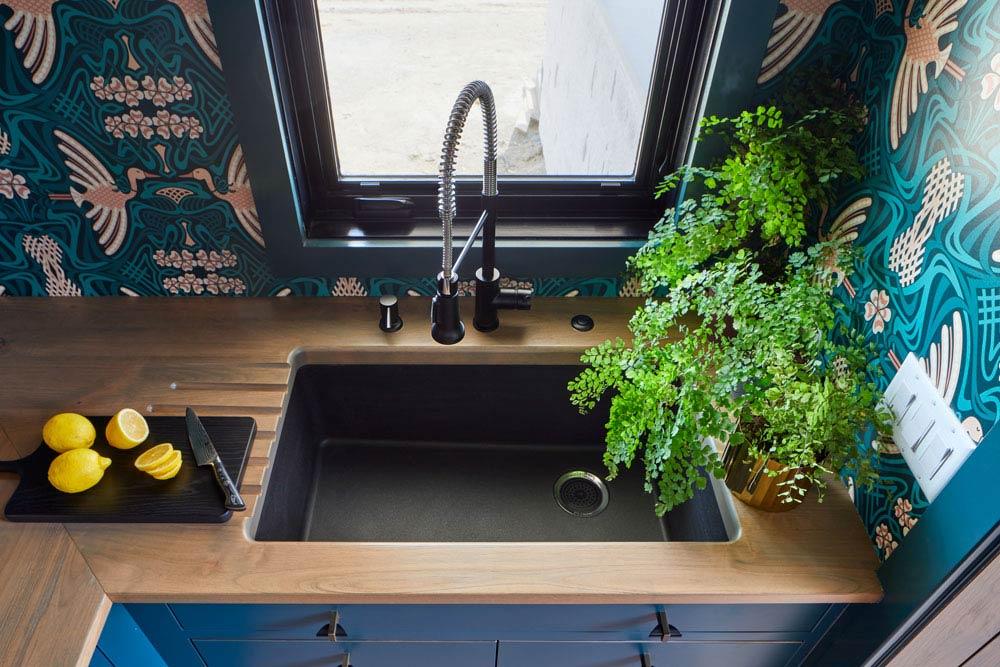 Custom Wood Countertops with Sinks