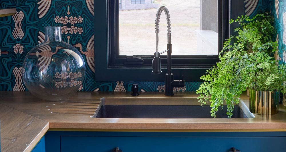 Custom Wood Countertops with Drainboards into an Undermount Sink