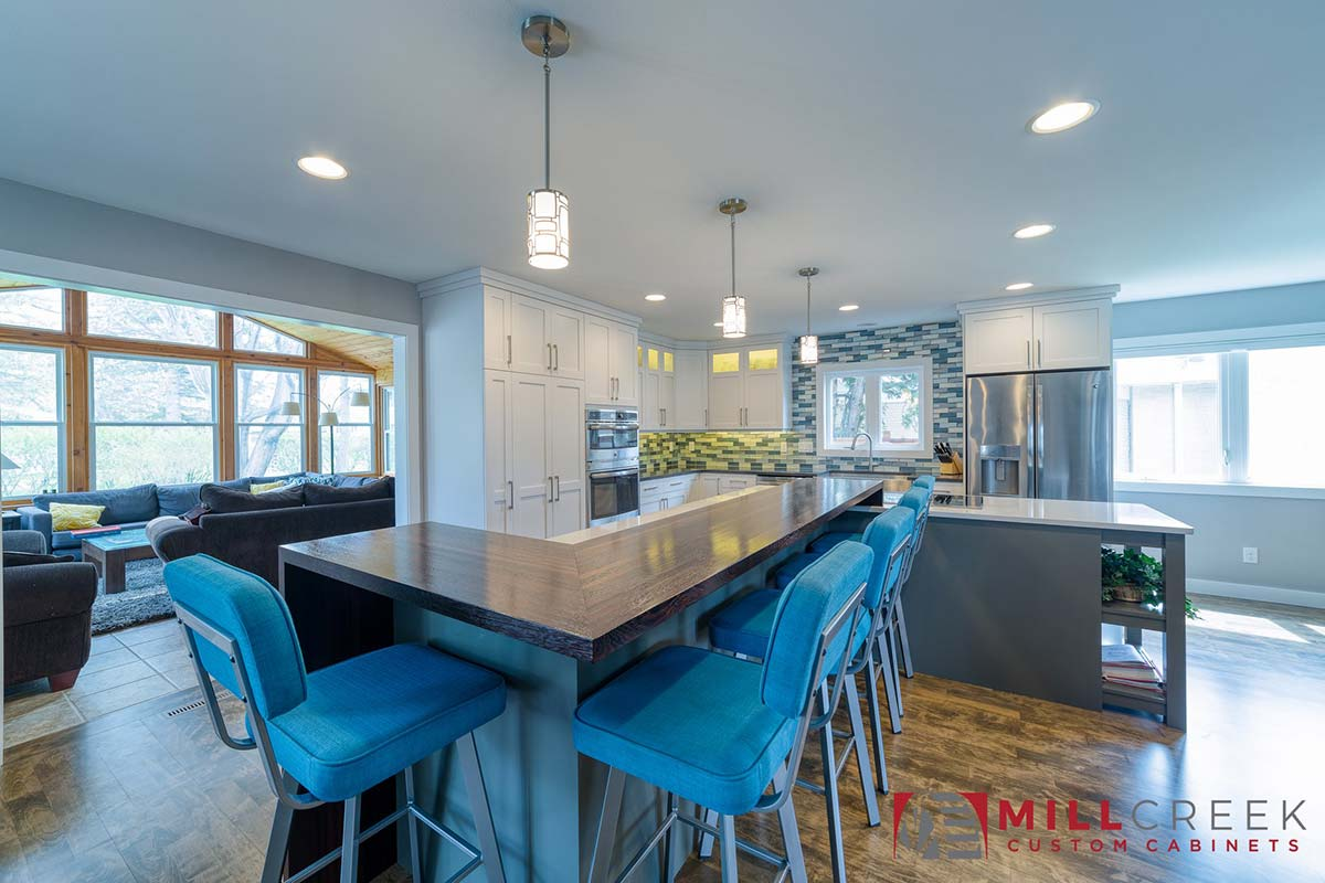 Custom Wood Countertops with Mitered Corners and Joints