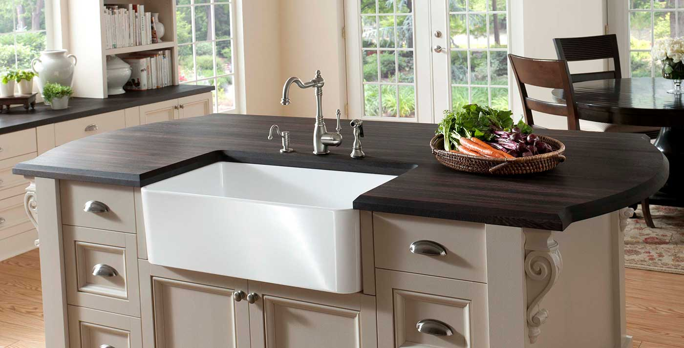 Grothouse wood countertop with custom arc