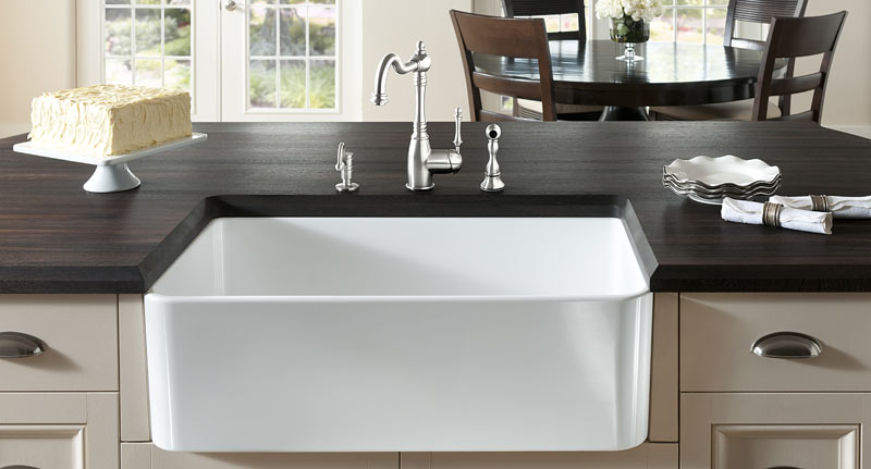 Wood Countertop with undermount sink