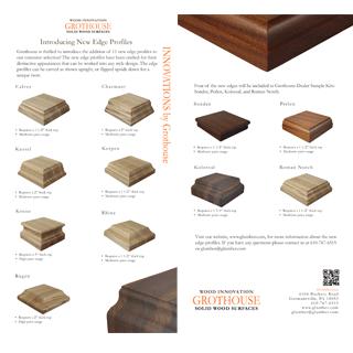 Grothouse Wood Countertop Edge Profiles Postcard