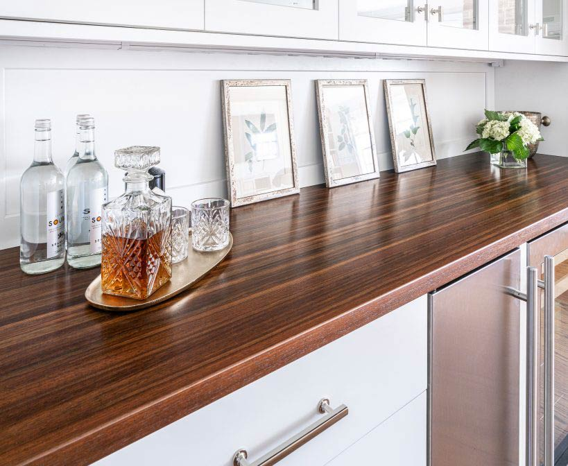2021 Wet Bar Design Trends with a Wood Countertop